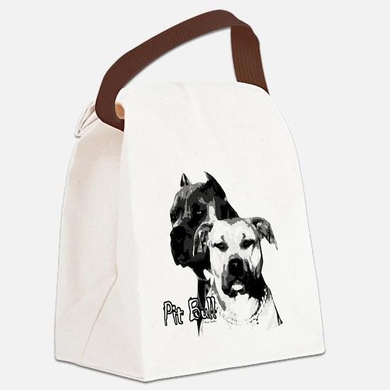 2dog head Canvas Lunch Bag