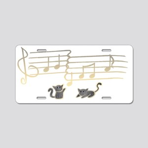 blackkittynotesblack Aluminum License Plate