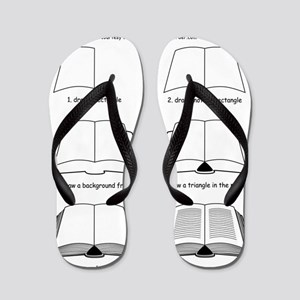 How to Draw a Novel Flip Flops