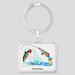 Catch And Release Landscape Keychain