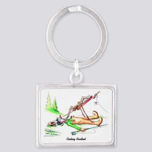 Casting Accident Landscape Keychain