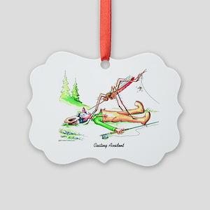 Casting Accident Picture Ornament