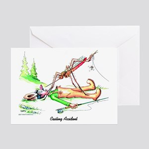 Casting Accident Greeting Card