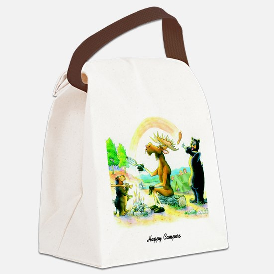 Happy Campers Canvas Lunch Bag