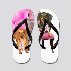 breast cancer cure Flip Flops