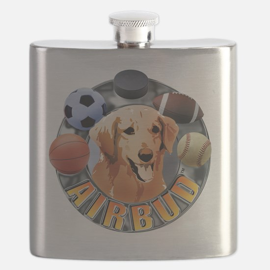 Air Bud Color Logo Flask