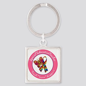 Special Ed Teach 1 Square Keychain