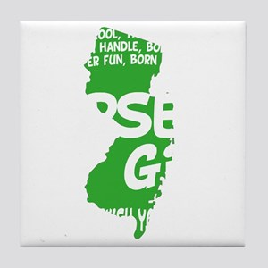 jersey girl(blk) Tile Coaster