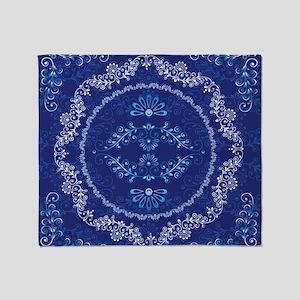 2-Blue_Toile_PILLOW Throw Blanket