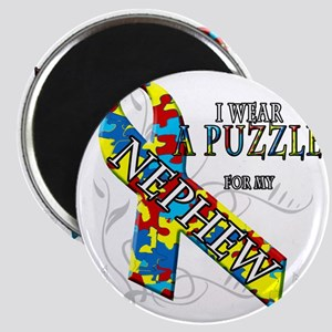 I Wear A Puzzle for my Nephew Magnet