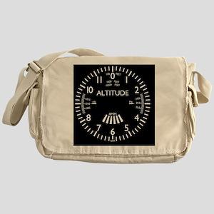 altimeter_clock Messenger Bag