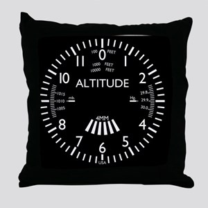 altimeter_clock Throw Pillow