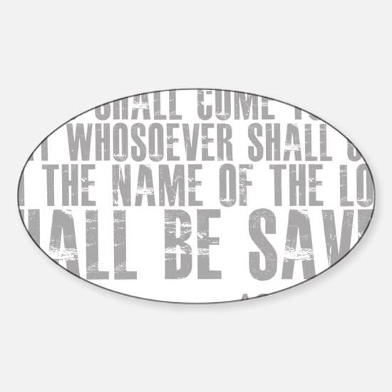 3-and.it.shall.come.to.pass Sticker (Oval)