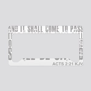 3-and.it.shall.come.to.pass License Plate Holder