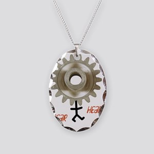 gearhead01 Necklace Oval Charm