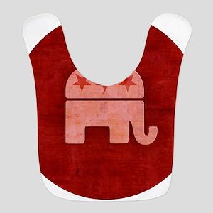Pink GOP Republican Elephant Bib