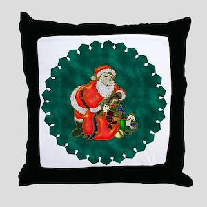 Happy Father Christmas Throw Pillow
