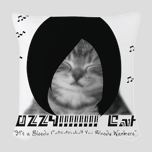 Ozzy Kitty Woven Throw Pillow