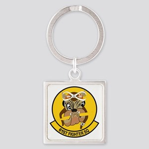 61st_fighter_sq Square Keychain