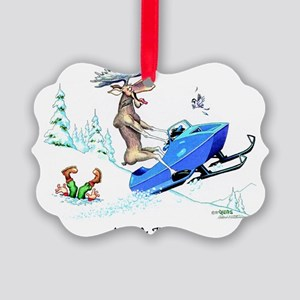 Moose On The Loose Picture Ornament