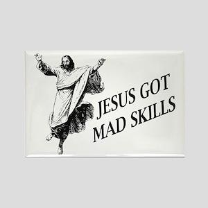 Jesus got mad skills Rectangle Magnet