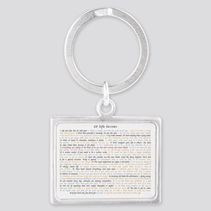 All50ScriptCard Landscape Keychain