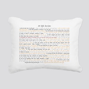 All50ScriptCard Rectangular Canvas Pillow