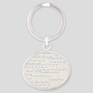 All50ScriptCard Oval Keychain