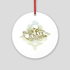 Pi Pirate Round Ornament