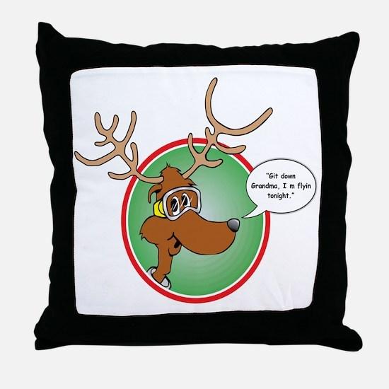 Grandma Got Run Over by a Reindeer Throw Pillow