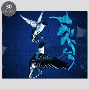 Two Blue Hummingbirds-Yardsign Puzzle