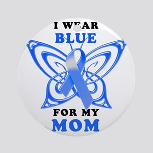 I Wear Blue for my Mom Round Ornament