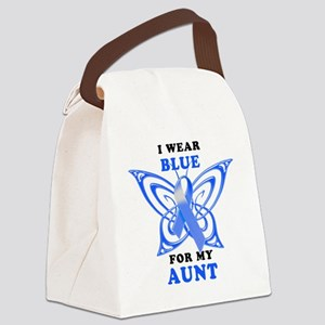 I Wear Blue for my Aunt Canvas Lunch Bag
