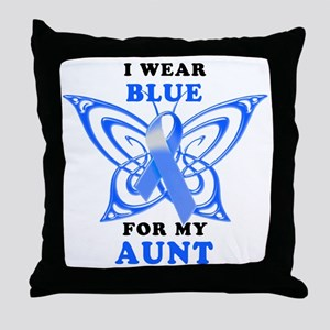 I Wear Blue for my Aunt Throw Pillow
