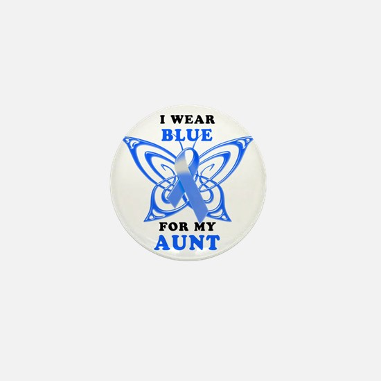 I Wear Blue for my Aunt Mini Button