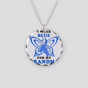 I Wear Blue for my Grandma Necklace Circle Charm