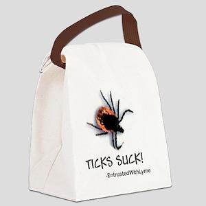 Ticks Suck! Canvas Lunch Bag