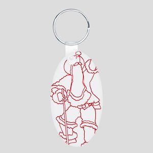Ireme Aluminum Oval Keychain