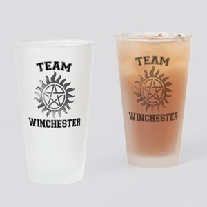 Team Winchester (anti-posession) Drinking Glass