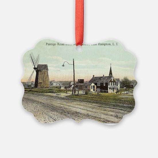 East Hampton - Pantigo Road postc Ornament