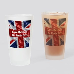 Love Britain Drinking Glass