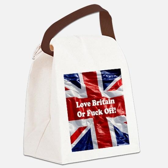 Love Britain Canvas Lunch Bag