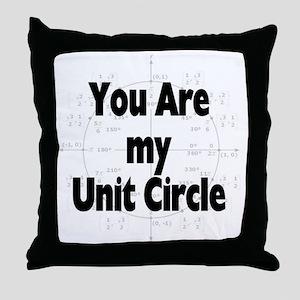 2-U r my unit circle Throw Pillow