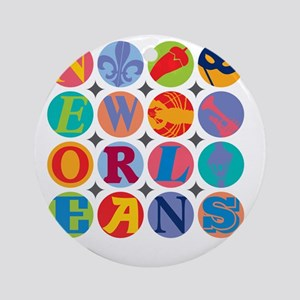 New Orleans Themes Round Ornament
