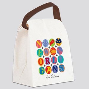 New Orleans Themes Canvas Lunch Bag