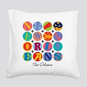 New Orleans Themes Square Canvas Pillow