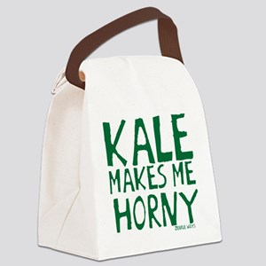 Kale Makes me Horny Canvas Lunch Bag