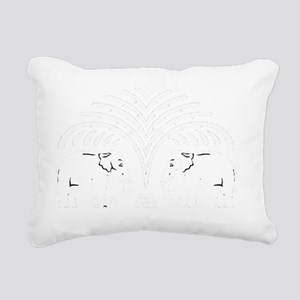 elephants Rectangular Canvas Pillow
