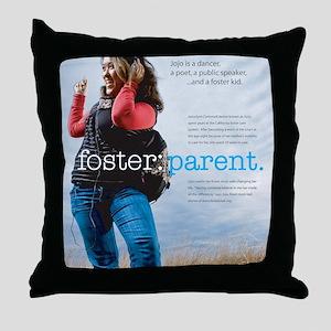 2-poster_jojo Throw Pillow