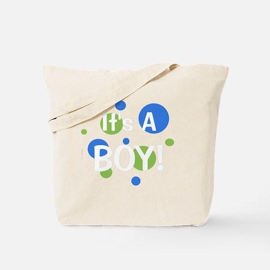 circles_itsaboy_white Tote Bag